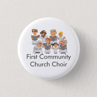Funny Personalized Church Choir 3 Cm Round Badge