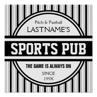Funny Personalized Custom Bar Sign Sports Pub