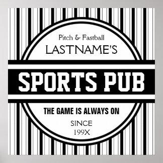 Funny Personalized Custom Bar Sign Sports Pub