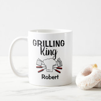 Funny Personalized  Grilling King Coffee Mug
