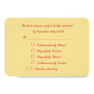 Funny Personalized Holiday Christmas Party RSVP Card