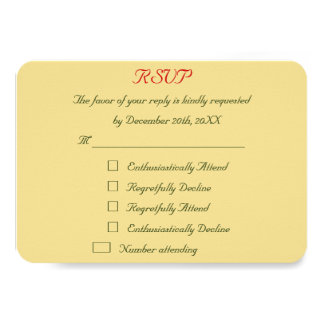 Funny Personalized Holiday Christmas Wedding RSVP Card