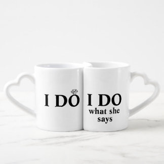 """Funny Personalized """"I Do"""" Wedding or Anniversary Lovers Mug"""
