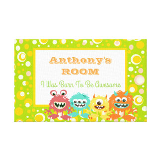 Funny personalized kids canvas print