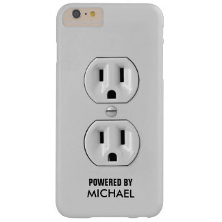 Funny Personalized Power Outlet Barely There iPhone 6 Plus Case