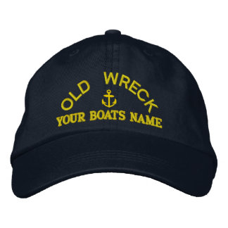 Funny personalized sailing captains yacht crew embroidered baseball cap