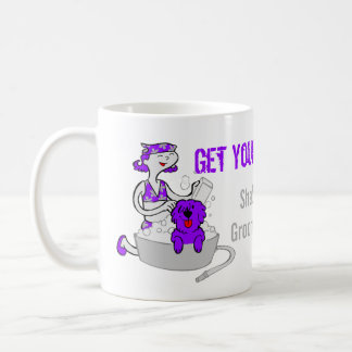 Funny Pet Groomer Purple Custom Groom On Coffee Mug