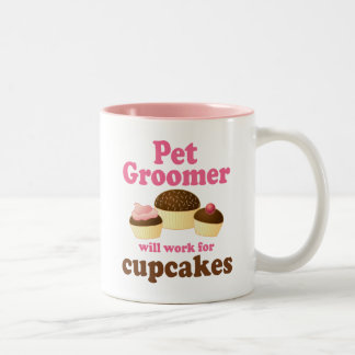 Funny Pet Groomer Two-Tone Coffee Mug
