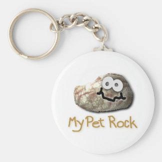 funny pet rock key chain