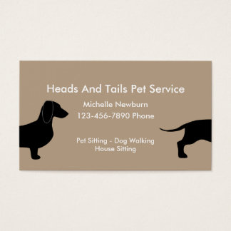 Funny Pet Sitter Business Card