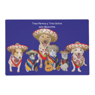 Funny Pet Spanish Placemat for Kids