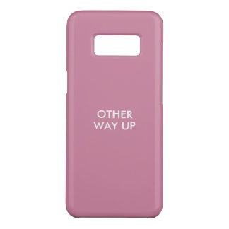 Funny phone case saying 'other way up'