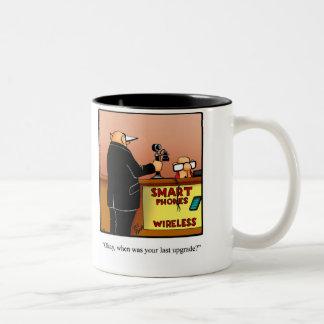 """Funny """"Phone Upgrade"""" Humor Mug Gift"""