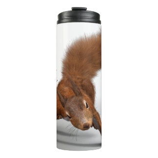 Funny Photo of Red Squirrel   Special Kind of Nuts Thermal Tumbler