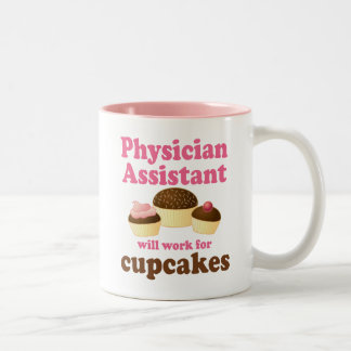 Funny Physician Assistant Two-Tone Coffee Mug