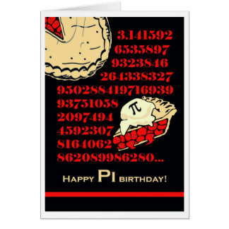Funny Pi Day Birthday, Grab a Slice of Pi Card