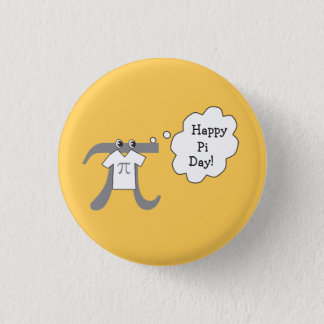 Funny Pi Guy - Happy Pi Day 3 Cm Round Badge