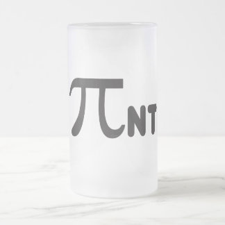 Funny Pi Pint 2011 Frosted Glass Mug