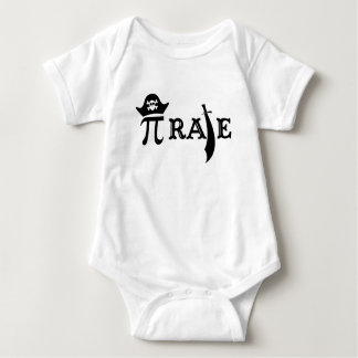 Funny Pi Rate Baby Bodysuit