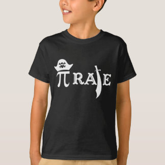 Funny Pi Rate Tee Shirt