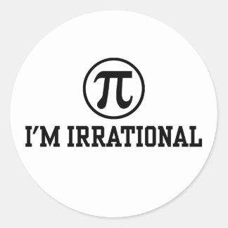 Funny Pi Round Sticker