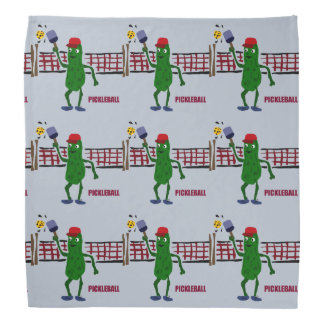 Funny Pickle Playing Pickleball Art Design Bandana