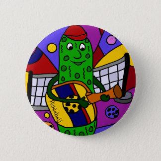 Funny Pickleball Abstract Art Original 6 Cm Round Badge