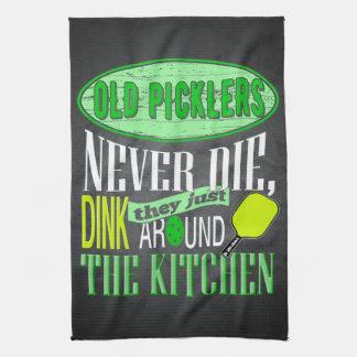 Funny Pickleball Joke Old Picklers Tea Towel