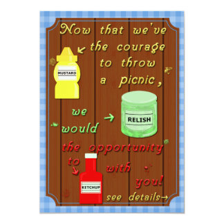 Funny Picnic Cookout Party Pun 13 Cm X 18 Cm Invitation Card