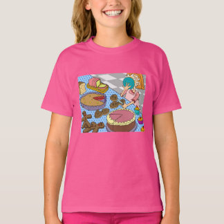 """Funny """"pie in the face"""" Pink Kids' T-Shirt XS-XL"""