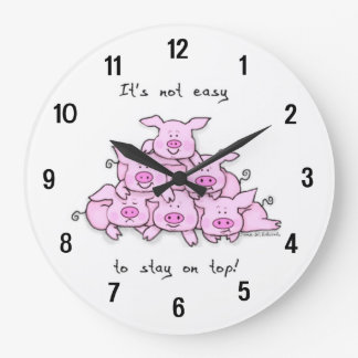 Funny Pig Cartoon Wall Clock