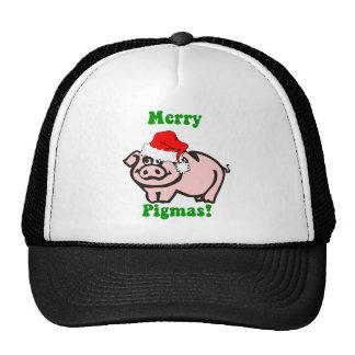 Funny pig Christmas Hats