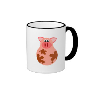 Funny Pig Mug Ringer Mug
