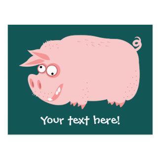 Funny Pig Postcard