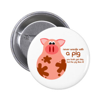 Funny Pig Quote button