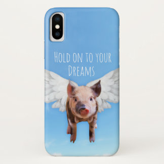 Funny Pigs Might Fly iPhone X Case