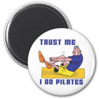 Funny Pilates 6 Cm Round Magnet