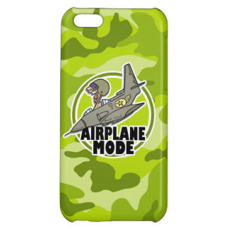 Funny Pilot; bright green camo, camouflage iPhone 5C Cover