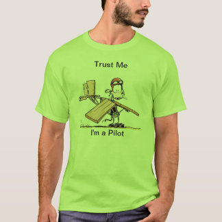 Funny Pilot Cartoon T-Shirt