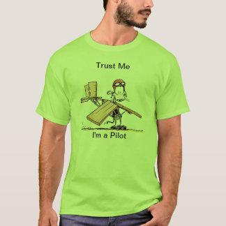 Funny Pilot Cartoon T-Shirt