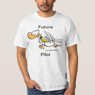 Funny Pilot Flying Cartoon Shirt