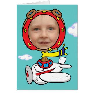 Funny Pilot Photo Face Template