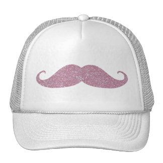 Funny Pink Bling Mustache Cap