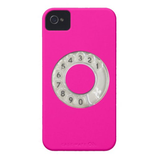 Funny pink dial iPhone 4 cases