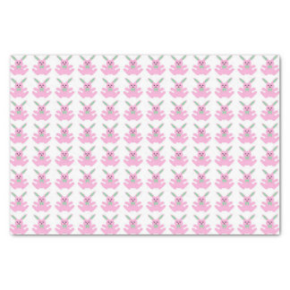 Funny Pink Easter Bunnies Tissue Paper