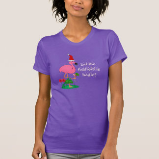 Funny Pink Flamingo Ladies Shirt