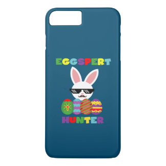 Funny Pink Hopping Easter Bunny for Egg Hunters iPhone 8 Plus/7 Plus Case