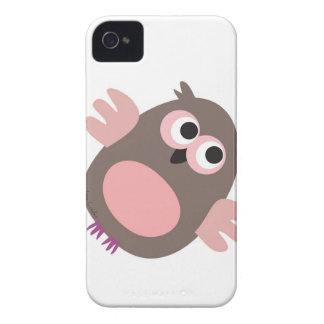 Funny pink owl iPhone 4 Case-Mate cases