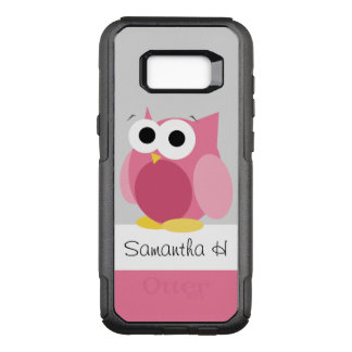 Funny Pink Owl Personalised Samsung Galaxy S8 OtterBox Commuter Samsung Galaxy S8+ Case