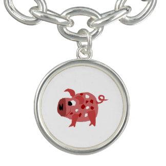 Funny Pink Pig Original Art